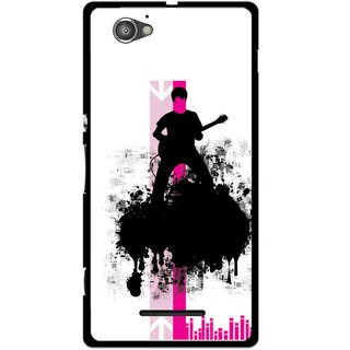Snooky Printed Music In Air Mobile Back Cover For Sony Xperia M - Multi