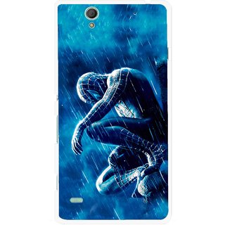 Snooky Printed Blue Hero Mobile Back Cover For Sony Xperia C4 - Blue