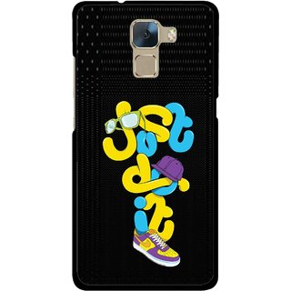 Snooky Printed Just Do it Mobile Back Cover For Huawei Honor 7 - Multi