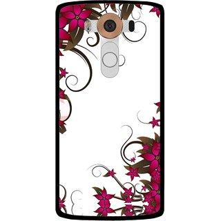 Snooky Printed Flower Creep Mobile Back Cover For Lg V10 - Multi