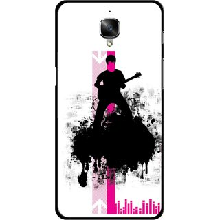 Snooky Printed Music In Air Mobile Back Cover For OnePlus 3 - Multi