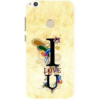 Snooky Printed Love You Mobile Back Cover For Huawei Honor 8 Lite - Yellow
