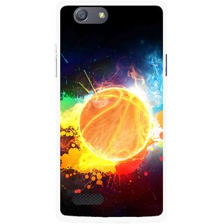 Snooky Printed Paint Globe Mobile Back Cover For Oppo Neo 7 - Multi