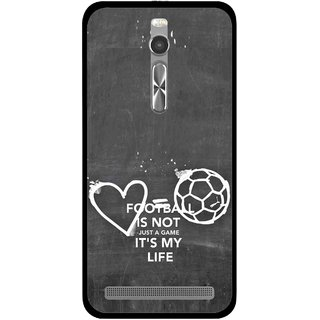 Snooky Printed Football Life Mobile Back Cover For Asus Zenfone 2 - Multi