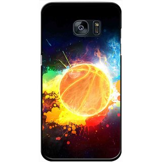 Snooky Printed Paint Globe Mobile Back Cover For Samsung Galaxy S7 - Multi
