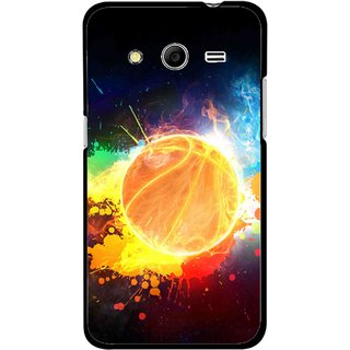 Snooky Printed Paint Globe Mobile Back Cover For Samsung Galaxy G355 - Multi