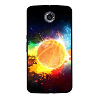 Snooky Printed Paint Globe Mobile Back Cover For Motorola Nexus 6 - Multi