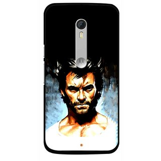 Snooky Printed Angry Man Mobile Back Cover For Motorola Moto X Style - Black