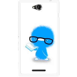 Snooky Printed My Teacher Mobile Back Cover For Sony Xperia C - Multicolour