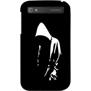 Snooky Printed Thinking Man Mobile Back Cover For Blackberry Classic - Black