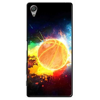 Snooky Printed Paint Globe Mobile Back Cover For Sony Xperia X - Multi