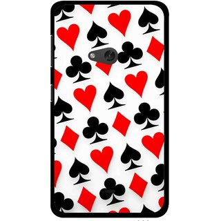 Snooky Printed Playing Cards Mobile Back Cover For Nokia Lumia 625 - Multi