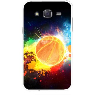 Snooky Printed Paint Globe Mobile Back Cover For Samsung Galaxy J7 - Multi