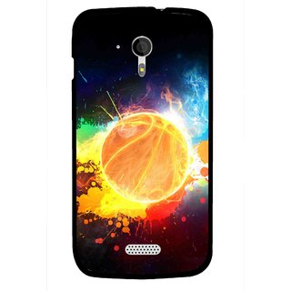 Snooky Printed Paint Globe Mobile Back Cover For Micromax A116 - Multi