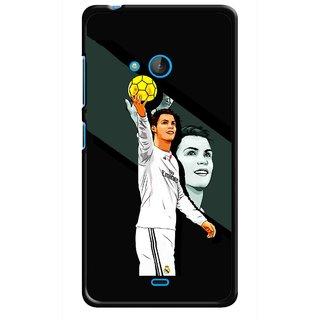 Snooky Printed I Win Mobile Back Cover For Nokia Lumia 540 - Multicolour