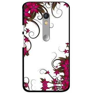 Snooky Printed Flower Creep Mobile Back Cover For Motorola Moto X Play - Multi