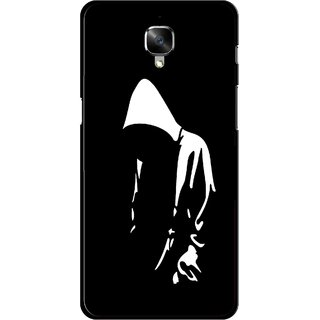 Snooky Printed Thinking Man Mobile Back Cover For OnePlus 3 - Black