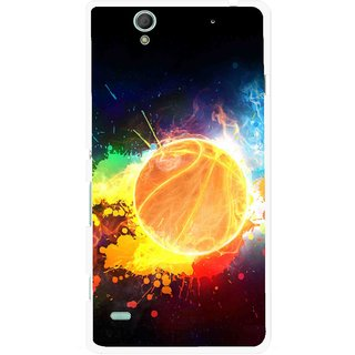 Snooky Printed Paint Globe Mobile Back Cover For Sony Xperia C4 - Multi