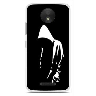 Snooky Printed Thinking Man Mobile Back Cover For Motorola Moto C Plus - Black