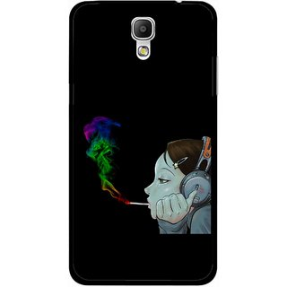 Snooky Printed Color Of Smoke Mobile Back Cover For Samsung Galaxy Mega 2 - Multicolour