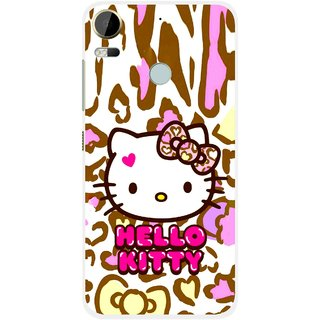 Snooky Printed Cute Kitty Mobile Back Cover For HTC Desire 10 Pro - Multi
