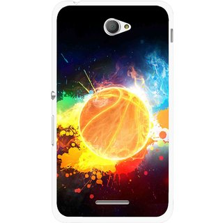 Snooky Printed Paint Globe Mobile Back Cover For Sony Xperia E4 - Multi