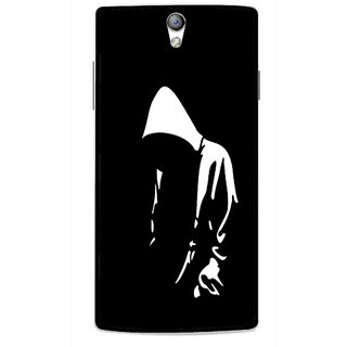 Snooky Printed Thinking Man Mobile Back Cover For Oppo Find 5 Mini - Black