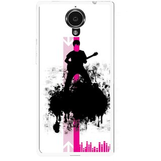 Snooky Printed Music In Air Mobile Back Cover For Gionee Elife E7 - Multi