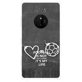 Snooky Printed Football Life Mobile Back Cover For Microsoft Lumia 830 - Multi