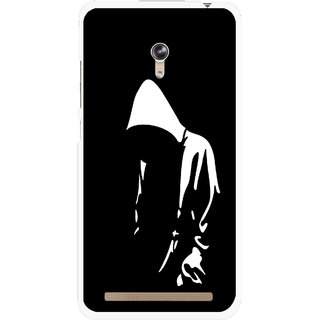 Snooky Printed Thinking Man Mobile Back Cover For Asus Zenfone 6 - Black