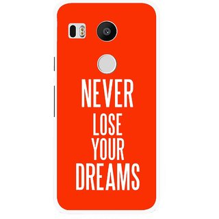 Snooky Printed Never Loose Mobile Back Cover For Lg Google Nexus 5X - Orange