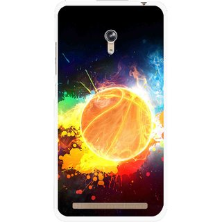 Snooky Printed Paint Globe Mobile Back Cover For Asus Zenfone 6 - Multi