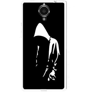 Snooky Printed Thinking Man Mobile Back Cover For Gionee Elife E7 - Black