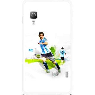 Snooky Printed Football Mania Mobile Back Cover For Lg Optimus L5II E455 - Multicolour