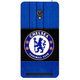 Snooky Printed FootBall Club Mobile Back Cover For Asus Zenfone Go ZC451TG - Blue