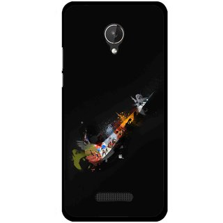 Snooky Printed All is Right Mobile Back Cover For Micromax Canvas Spark Q380 - Black