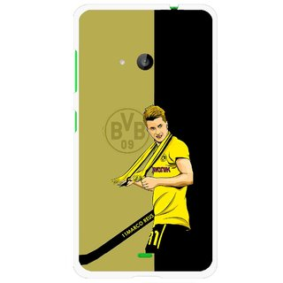 Snooky Printed Sports Player Mobile Back Cover For Microsoft Lumia 535 - Black