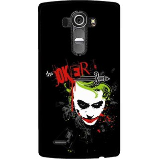 Snooky Printed The Joker Mobile Back Cover For Lg G4 - Multi
