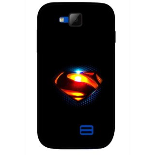Snooky Printed Super Hero Mobile Back Cover For Micromax Canvas Fun A63 - Black