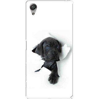 Snooky Printed Cute Dog Mobile Back Cover For Sony Xperia X - Multicolour
