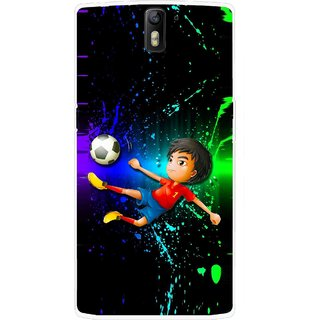 Snooky Printed High Kick Mobile Back Cover For OnePlus One - Multicolour