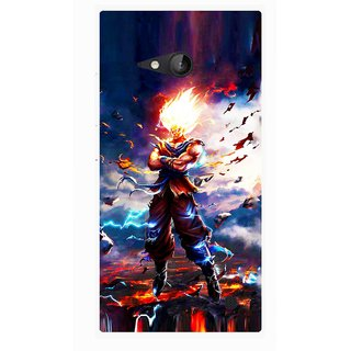 Snooky Printed In Anger Mobile Back Cover For Nokia Lumia 730 - Multicolour
