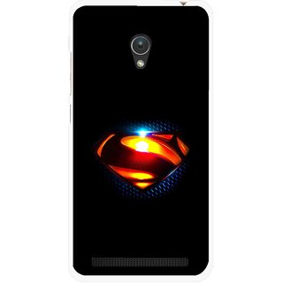 Snooky Printed Super Hero Mobile Back Cover For Asus Zenfone Go ZC451TG - Black
