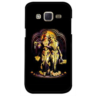 Snooky Printed Radha Krishan Mobile Back Cover For Samsung Galaxy j2 - Black