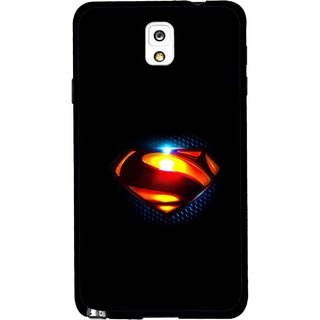 Snooky Printed Super Hero Mobile Back Cover For Samsung Galaxy Note 3 - Black