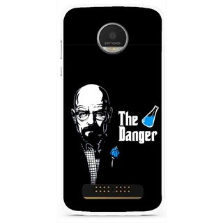 Snooky Printed The Danger Mobile Back Cover For Moto Z Play - Black