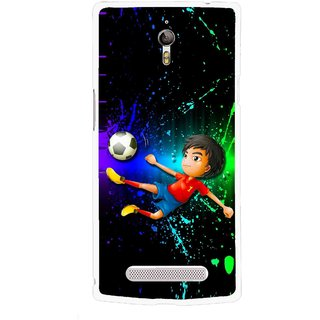 Snooky Printed High Kick Mobile Back Cover For Oppo Find 7 - Multicolour