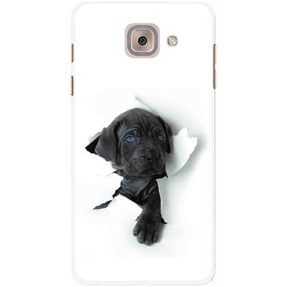 Snooky Printed Cute Dog Mobile Back Cover For Samsung Galaxy J7 Max - Multicolour