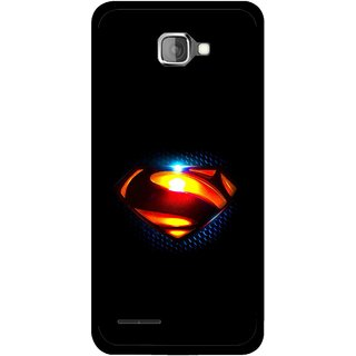 Snooky Printed Super Hero Mobile Back Cover For Micromax Canvas Mad A94 - Black