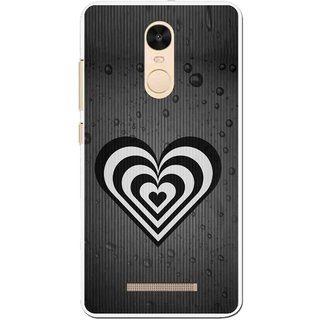 Snooky Printed Hypro Heart Mobile Back Cover For Gionee S6s - Black